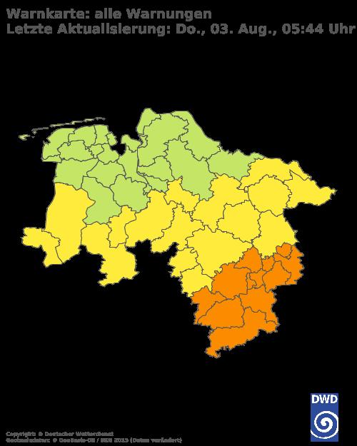 Aktuelle Wetterwarnungen für Hannover
